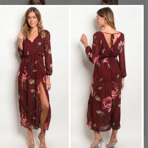 Dresses & Skirts - Floral long sleeve dress